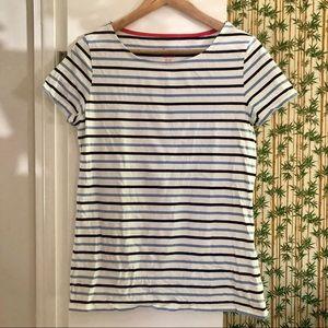 Boden Short Sleeve Breton Striped T-shirt